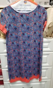 Tory Burch dress blue coral floral size small